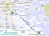Distance-domodedovo-ryazan-route2